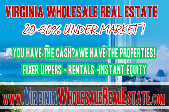 VA Wholesale Properties Youtube